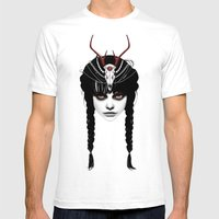 Wakeful Warrior - In Red Mens Fitted Tee White SMALL