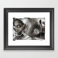 No Direction Framed Art Print