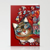 Moscow Cat - St. Basil -… Stationery Cards