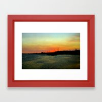 As The Day Ends! Framed Art Print