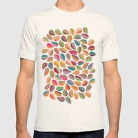 Leaf Colorful Mens Fitted Tee Natural SMALL