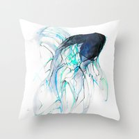 Ghost Fish Throw Pillow