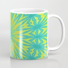 Aqua Blue and Yellow Mug