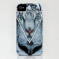 iPhone 4s & iPhone 4 Cases featuring Hipster Tiger by Erick Navarro