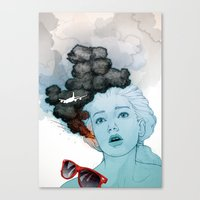 Volcan-oh-no! Canvas Print