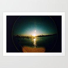 Williamsburg Bridge at Sunset Art Print