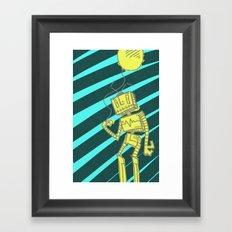 RoboBalloon Framed Art Print