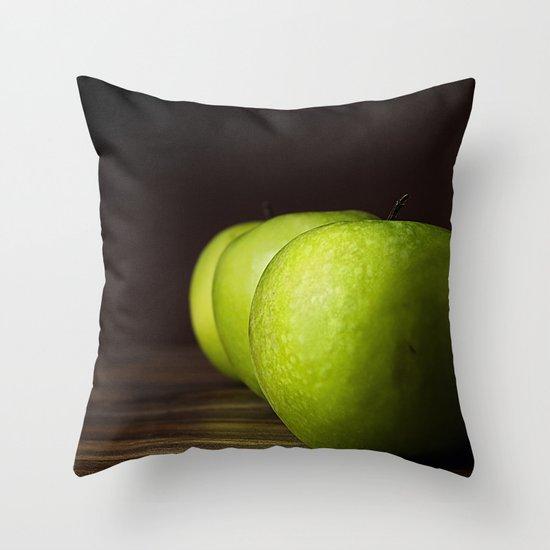 Little Green apples Throw Pillow