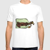 Bottle crab Mens Fitted Tee White SMALL