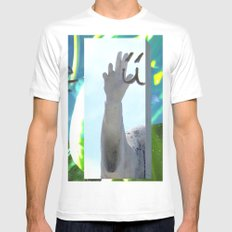 te6ab1et Mens Fitted Tee SMALL White
