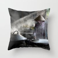 The Rice Noodles Maker  … Throw Pillow