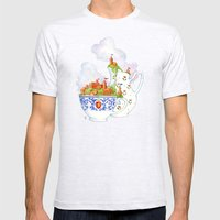 Teacup Kingdoms Mens Fitted Tee Ash Grey SMALL