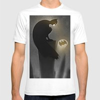 Thebatsignal Mens Fitted Tee White SMALL