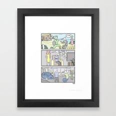 Life outside Framed Art Print
