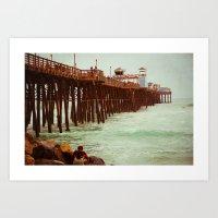 Oceanside Pier Art Print