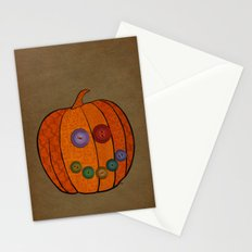 Patterned pumpkin  Stationery Cards