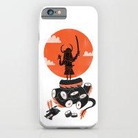 iPhone Cases featuring Samurai Sushi by Wharton
