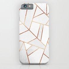 White Stone & Copper Lines iPhone 6 Slim Case
