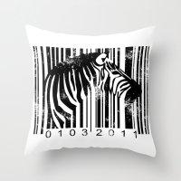 Code Z Throw Pillow