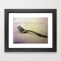 Fork Framed Art Print