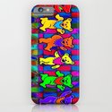 Grateful Dead Dancing Bears Colorful Psychedelic Characters #1 iPhone & iPod Case
