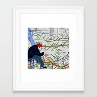 In the mix Framed Art Print