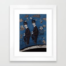 Two Men Travelling Framed Art Print