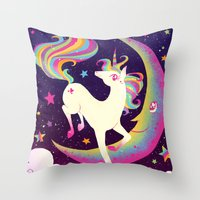 Let's Be Frank About Unicorns Throw Pillow