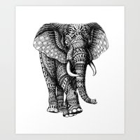 Ornate Elephant V.2 Art Print