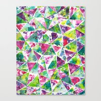 Canvas Print featuring COLLAGE LOVE: Funky Triangles by Elephant Trunk Studio