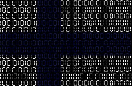 digital Flag (Finland) Art Print