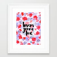 Lovers [Collaboration Wi… Framed Art Print