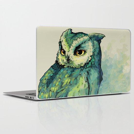 Green Owl Laptop & iPad Skin