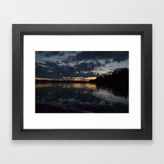 A cloudy sunset. Framed Art Print