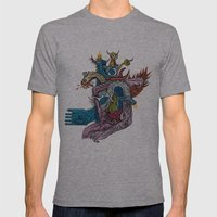 New God Makina - Print A… Mens Fitted Tee Athletic Grey SMALL