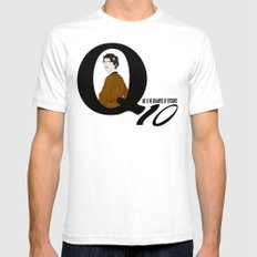 Q: Age Is No Guarantee of Efficiency Mens Fitted Tee White SMALL