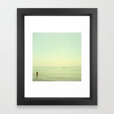 Pontoon Framed Art Print