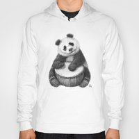 Panda playing percussion G140 Hoody