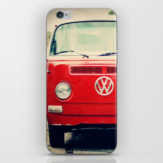 Red VW Bus iPhone & iPod Skin
