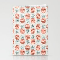 chicago Stationery Cards featuring Pineapple  by basilique