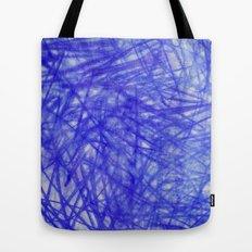 Ophelia Blue Scribble Tote Bag