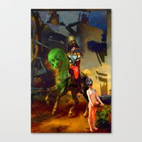 Alexander and Diogenes Canvas Print