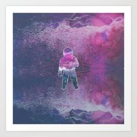 Cosmic Spaceman Art Print