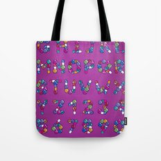 Pills Font Tote Bag