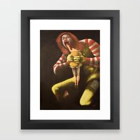 Big Mac Attack Framed Art Print