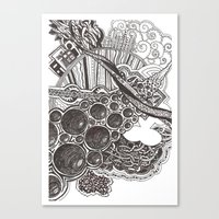 Canvas Print featuring Doodle by oliviakreich