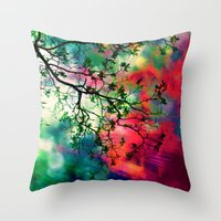 The Tree Of Many Colors … Throw Pillow