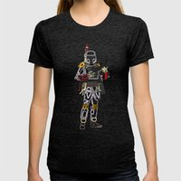 Boba Font Womens Fitted Tee Tri-Black SMALL