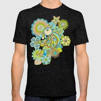 Welcome Birds To...(brow… Mens Fitted Tee Tri-Black SMALL
