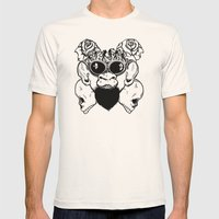Rock Out Monkey Boy Mens Fitted Tee Natural SMALL